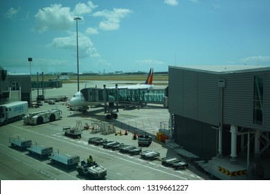 Brisbane, Queensland / Australia - January 15 2019: A Philippine Airlines Airbus 321 at Brisbane International Airport