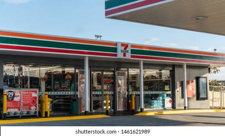 Brisbane, Queensland / Australia - July 26th 2019: Seven Eleven(7-Eleven)
