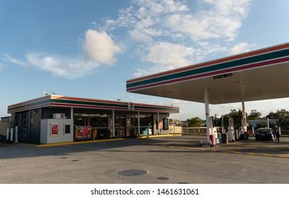 Brisbane, Queensland / Australia - July 26th 2019: Seven Eleven(7-Eleven) Gas Station