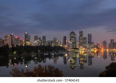 Brisbane with reflexion
