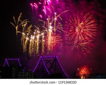 Brisbane Riverfire festival 2018 Story Bridge Fireworks display
