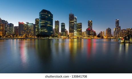 Brisbane sky line at night