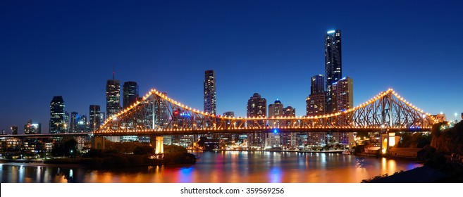 BRISBANE,QLD/AUSTRALIA - MAY 13, 2012: View over Brisbane city and Story Bridge from Willson's outlook