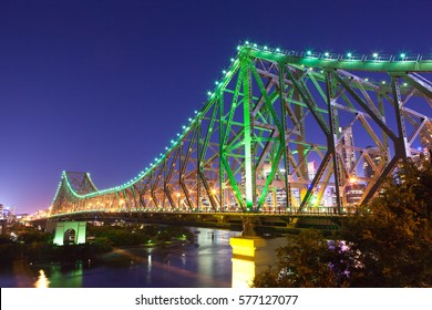 Brisbane's Story Bridge at night in the Queensland's capital city