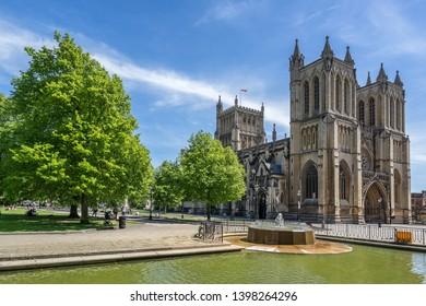 Bristol Cathedral on College Green in Bristol