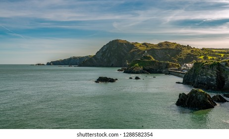 The Bristol Channel coast in Ilfracombe, Devon, England, UK - looking from Capstone Point