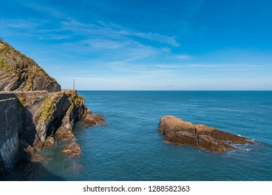 The Bristol Channel coast in Ilfracombe, Devon, England, UK - looking from the Capstone Parade
