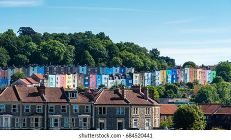 Bristol Cityscape, with colourful houses