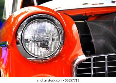 BRISTOL, CT., USA-JULY 31: Bristol Vintage Car Show-1956 Chevy model, July 31, 2010 in Bristol, Connecticut, USA