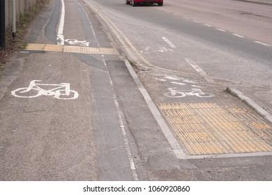 Bristol cycle track marking