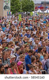 BRISTOL, ENGLAND - JULY 31: Some of the record 250,000 spectators at the free three day Harbour Festival on July 31, 2010 in Bristol, England