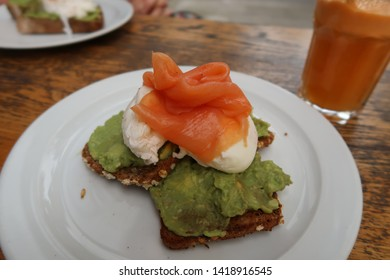 Bristol, England - June 2019: Better Food Cafe Wapping Wharf