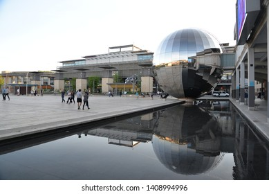 Bristol, England – May 22, 2019: Millennium Square in Bristol, United Kingdom, Europe