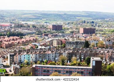 Bristol in England skyline