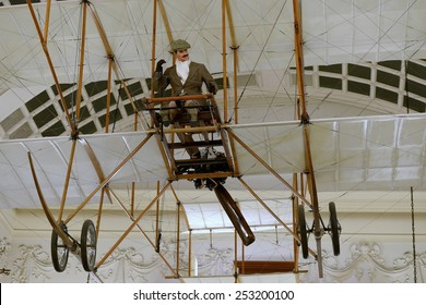 BRISTOL - JAN 11: View of a Bristol Boxkite on display at Bristol Museum on Jan 11, 2015 in Bristol, UK. The early biplane was introduced in 1910 by the British and Colonial Aeroplane Company.