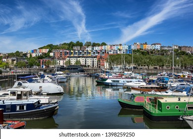 Bristol Marina in the county of Somerset in England