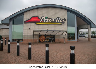 Bristol, UK, 09-04-2018: Pizza Hut at Imperial Park Shopping Centre, Bristol