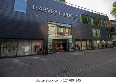 Bristol, UK, 10-07-2018: Harvey Nichols  shop in Cabots Circus, Bristol