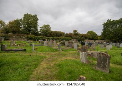 Bristol, UK: 10-09-2018: The Graveyard of The Church of St Mary and St Peter, Winford