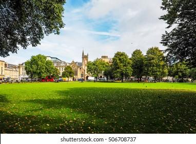 BRISTOL, UK - CIRCA SEPTEMBER 2016: HDR College Green public park
