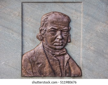 BRISTOL, UK - CIRCA SEPTEMBER 2016: HDR Commemorative plaque for Isambad Kingdom Brunel who designed Clifton Suspension Bridge spanning the Avon Gorge and River Avon