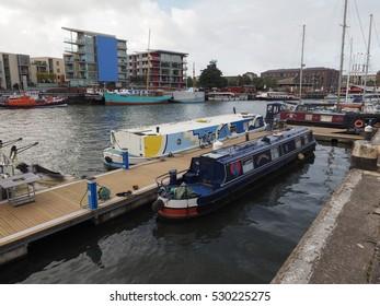 BRISTOL, UK - CIRCA SEPTEMBER 2016: Bristol Harbour (part of Port of Bristol)