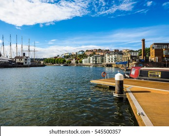 BRISTOL, UK - CIRCA SEPTEMBER 2016: HDR Bristol Harbour (part of Port of Bristol)