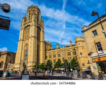 BRISTOL, UK - CIRCA SEPTEMBER 2016: HDR The Wills Memorial Building part of the University of Bristol at the top of Park Street