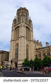 Bristol, UK – July 9, 2019 - The Neo-Gothic Wills Memorial Building (aka the Wills Memorial Tower or simply the Wills Tower) in Bristol, England