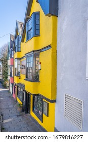 Bristol, UK - March 22, 2020: Colourful Homes which helped make Bristol a city of culture.
