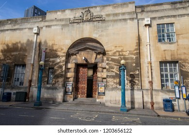 Bristol, UK: October 10, 2018:The Old Bridewell Police Station, 1-2 Bridewell St, Bristol