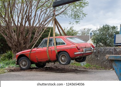 Bristol/ UK-May 1st 2018: Taking away a classic old car.