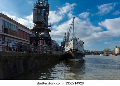 Bristol, United Kingdom, February 23rd 2019, MV Balmoral ship at M Shed Museum at Wapping Wharf