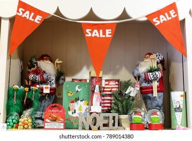 Bristol / United Kingdom - January 07 2018: Christmas Sale