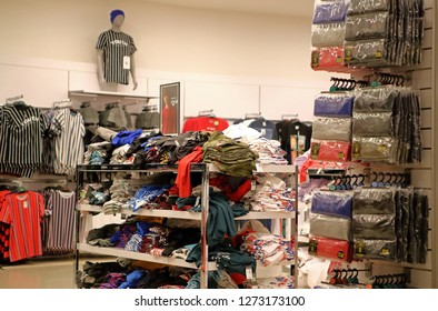 Bristol,England,UK. 12.09.2018.Interior of the popular Primark store. The Irish fast fashion retailer owns over 350 stores worldwide. Known for its quick fashion, basic styles and small price tags.