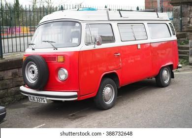 Bristol,UK-February 26,2016: old Volkswagen van parked in Bristol on february 26 ,2016