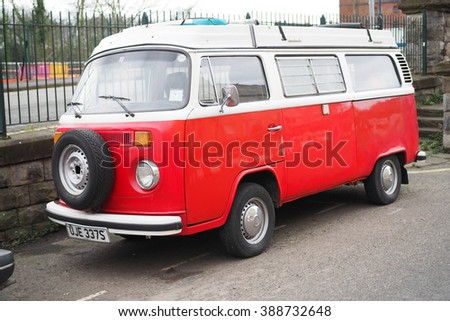 d52409b0c1 Bristol UK February 262016 Old Volkswagen Van Parked Stock Photo ...