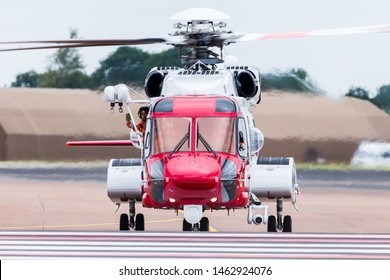 Bristow S-92 helicopter captured at the 2019 Royal International Air Tattoo at RAF Fairford.