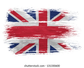 Britain. British flag on white background