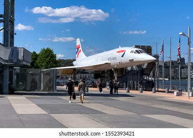 British Airways Concorde registration: G-BOAD, on display at the Intrepid Sea, Air and Space museum in New York City. Manhattan, New York USA June 2, 2019.