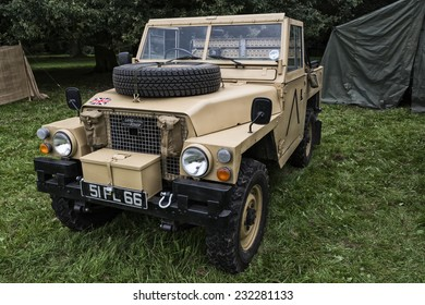 British Army Land Rover - 1983 Series III Lightweight at Quex Park in Kent - September 2014 - Editorial Image