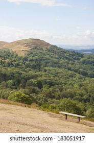 British Camp, or the Herefordshire Beacon, Malvern, UK, an Iron Age hill fort.