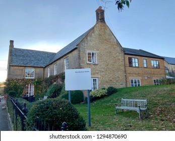 British Care home, closeup - conceptual image of elderly care