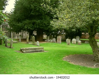 British churchyard in Canterbury, Kent, UK
