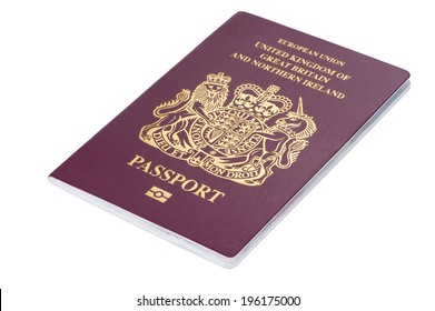 British citizen passport on white background