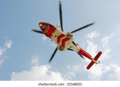 British Coastguard rescue helicopter