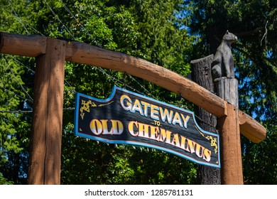 BRITISH COLUMBIA, CANADA - 17 JUNE : Gateway to Old Chemainus on 17 June 2018 in Victoria island, British columbia, Canada