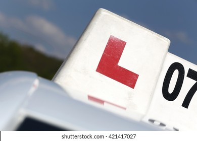 British driving school car sign
