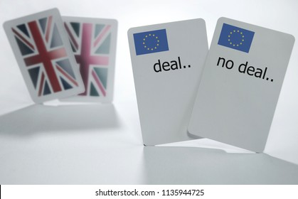 British and European playing cards with deal and no deal cards