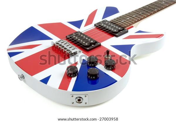 British flag electric guitar